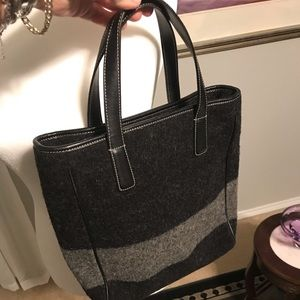 Coach wool handbag- like new just a smaller size